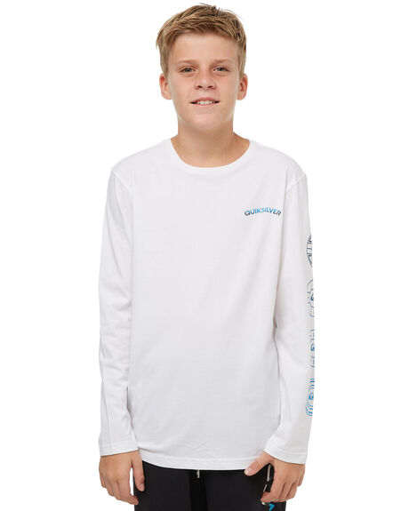 WHITE KIDS BOYS QUIKSILVER TEES - EQBZT03686WBB0