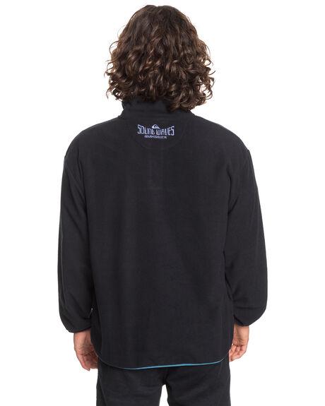 BLACK MENS CLOTHING QUIKSILVER JUMPERS - EQYFT04194-KVJ0