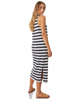 VINTAGE BLACK STRIPE OUTLET WOMENS ELWOOD DRESSES - W93719GEE
