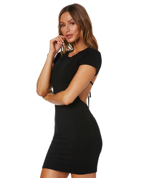 BLACK WOMENS CLOTHING SNDYS DRESSES - SFD532BLK