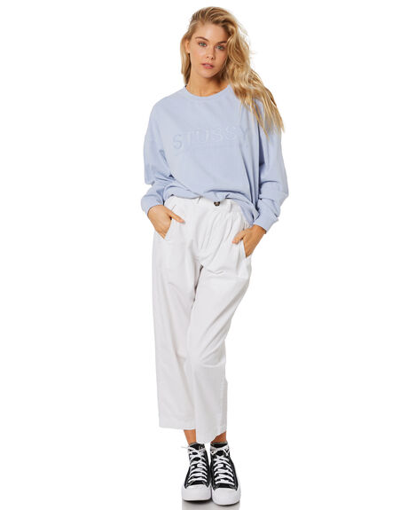 PALE BLUE WOMENS CLOTHING STUSSY JUMPERS - ST1M0192PBLU
