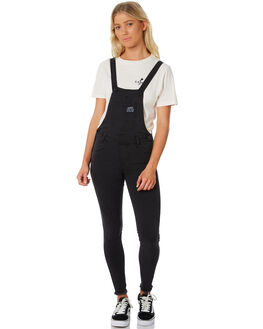 WASHED BLACK WOMENS CLOTHING ELEMENT PLAYSUITS + OVERALLS - 286861W33
