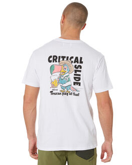 WHITE MENS CLOTHING THE CRITICAL SLIDE SOCIETY TEES - TE18178WHT