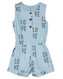 BLUE KIDS GIRLS TINY TRIBE DRESSES + PLAYSUITS - TTGS19-6034ABLU