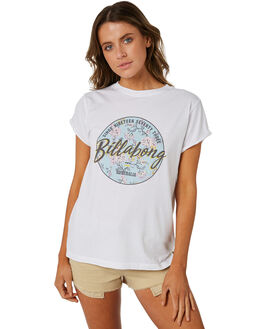WHITE WOMENS CLOTHING BILLABONG TEES - 6582008WHT