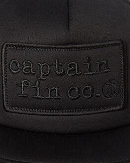 BLACK MENS ACCESSORIES CAPTAIN FIN CO. HEADWEAR - CH191007BLK
