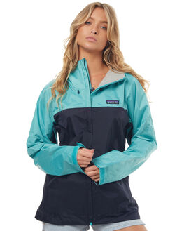 NAVY BLUE STRAIT WOMENS CLOTHING PATAGONIA JACKETS - 83807NSTR