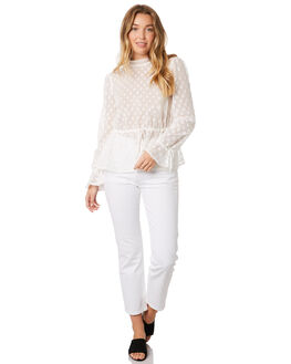 CREME WOMENS CLOTHING STEVIE MAY FASHION TOPS - SL190527TCREME