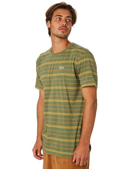 OLIVE MENS CLOTHING RHYTHM TEES - JAN19M-CT05-OLI