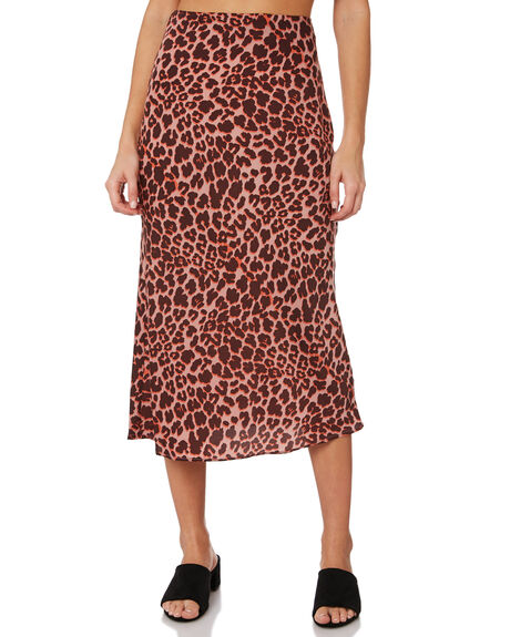 PEACH LEOPARD WOMENS CLOTHING THE FIFTH LABEL SKIRTS - 40190525-3LEOP