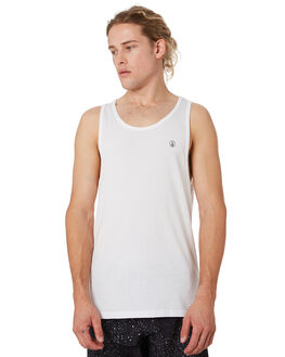 WHITE MENS CLOTHING VOLCOM SINGLETS - A0241575WHT