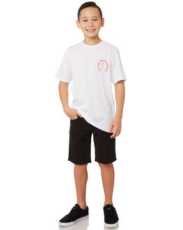BLACK KIDS BOYS VOLCOM SHORTS - C0911708BLK