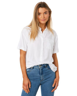 WHITE WOMENS CLOTHING ELEMENT FASHION TOPS - 284212WHT