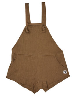 LINEN KHAKI KIDS TODDLER GIRLS SWEET CHILD OF MINE PLAYSUITS + OVERALLS - SP18JORDYOVRLKHK