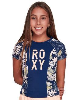 MED BLUE FULL FLORAL KIDS GIRLS ROXY SWIMWEAR - ERGWR03124-BTE6