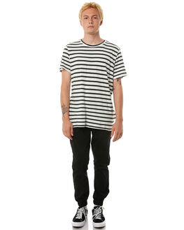 BLACK MENS CLOTHING ACADEMY BRAND PANTS - 18W103BLK