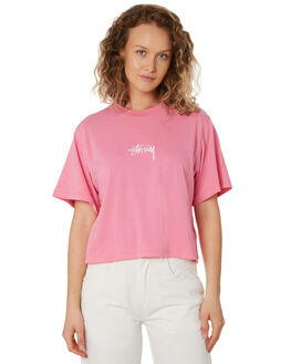 MID PINK WOMENS CLOTHING STUSSY TEES - ST196000MPNK