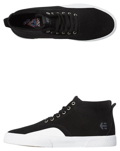 BLACK WHITE MENS FOOTWEAR ETNIES SKATE SHOES - 4101000476-979