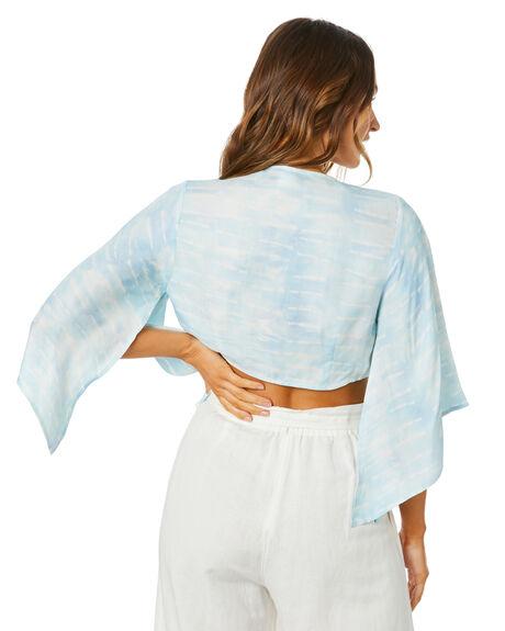 BLUE WOMENS CLOTHING TIGERLILY FASHION TOPS - T305056BLU
