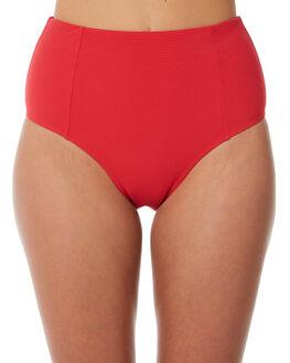 RED WOMENS SWIMWEAR SEA LEVEL BY NIPTUCK BIKINI BOTTOMS - SL4010RRRED