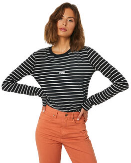 BLACK WOMENS CLOTHING AFENDS TEES - W191062BLK