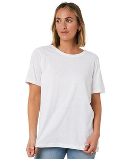 WHITE WOMENS CLOTHING SWELL TEES - S8203001WHITE