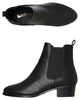 BLACK TUMBLE WOMENS FOOTWEAR BILLINI BOOTS - B803BLK
