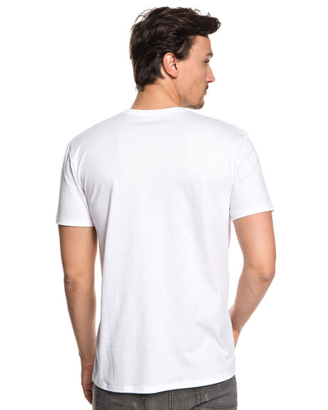 WHITE MENS CLOTHING QUIKSILVER TEES - EQYZT04940WBB0
