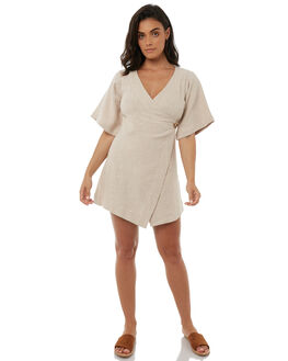 NATURAL WOMENS CLOTHING ZULU AND ZEPHYR DRESSES - ZZ1860NAT