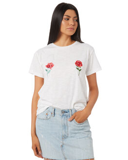 WHITE OUTLET WOMENS TEE INK TEES - VAW1017WHT