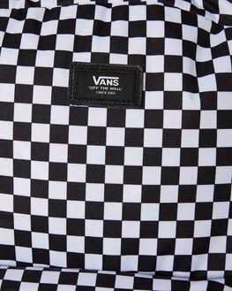 BLACK WHITE CHECK MENS ACCESSORIES VANS BAGS + BACKPACKS - VN0A3I6RHU0BKWT
