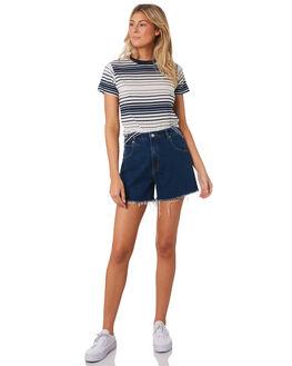 ECO VICKI BLUE WOMENS CLOTHING ROLLAS SHORTS - 131074678