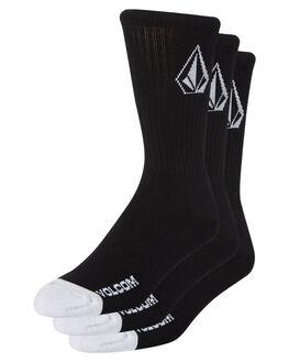 BLACK MENS CLOTHING VOLCOM SOCKS + UNDERWEAR - D6321800BLK