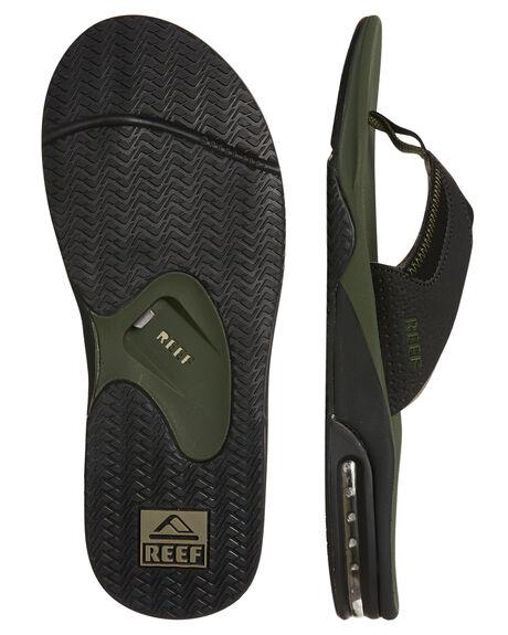OLIVE BLACK MENS FOOTWEAR REEF THONGS - 2026OLB