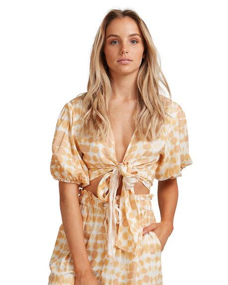 MUSTARD WOMENS CLOTHING BILLABONG FASHION TOPS - BB-6517132-MUS