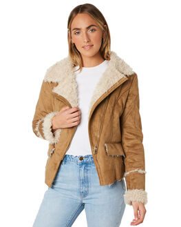 CARAMEL WOMENS CLOTHING LILYA JACKETS - SHJK01-LAW19CAR