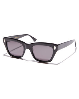 GLOSS BLACK ACETATE WOMENS ACCESSORIES CRAP SUNGLASSES - 172ZC05GGGLBLK
