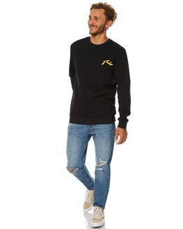 BLACK MENS CLOTHING RUSTY JUMPERS - FTM0794BK1