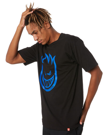BLACK MENS CLOTHING SPITFIRE TEES - 51010001GYBLK