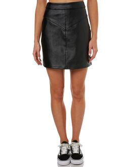 BLACK WOMENS CLOTHING RUSTY SKIRTS - SKL0441BLK