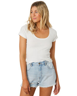 WHITE WOMENS CLOTHING ROLLAS TEES - 13140-001