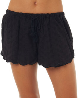 BLACK WOMENS CLOTHING ALL ABOUT EVE SHORTS - 6403026BLK