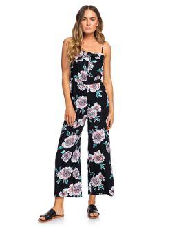 ANTHRACITE SEPT WOMENS CLOTHING ROXY PLAYSUITS + OVERALLS - ERJWD03370-XKKM
