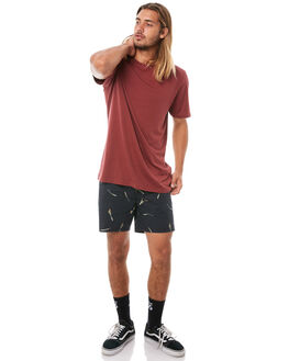 BLACK MENS CLOTHING VOLCOM SHORTS - A0811850BLK