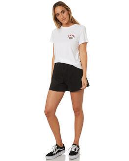 WHITE WOMENS CLOTHING VOLCOM TEES - B3541877WHT