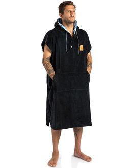 BLACK BLUE WHITE MENS ACCESSORIES SLOWTIDE TOWELS - ST173BLUWH