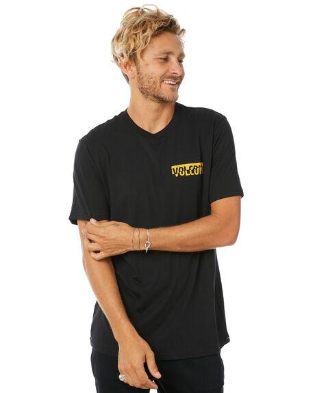 BLACK MENS CLOTHING VOLCOM TEES - A5011800BLK