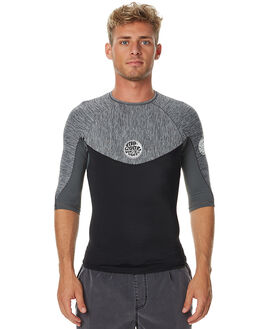 DARK GREY MARLE SURF RASHVESTS RIP CURL MENS - WLY5IM8538