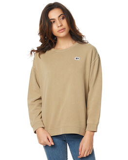 TAN WOMENS CLOTHING STUSSY JUMPERS - ST176314TAN