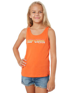 MANDARIN RED KIDS GIRLS RIP CURL TOPS - JTEEB14869